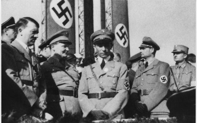 Adolf Hitler alongside senior Nazis Hermann Göring  Joseph Goebbels and Rudolf Hess (Wikipedia/U.S. National Archives and Records Administration)