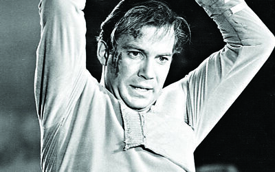 William Shatner during a  scene from the first show