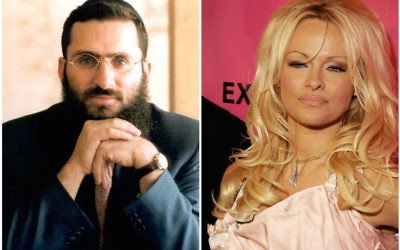 Rabbi Shmuley and Pamela Anderson