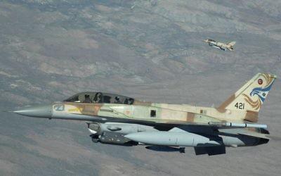 An Israeli F-16