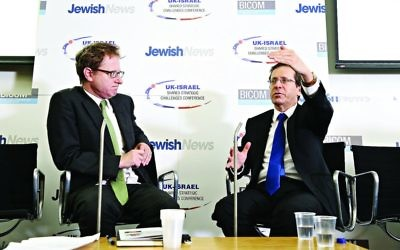 Jonathan Freedland in conversation with Isaac Herzog during the 2015 conference
