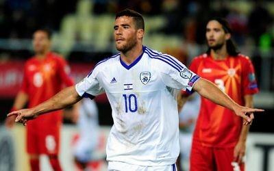 Tomer Hemed scored twice for Israel in an earlier World Cup qualifier