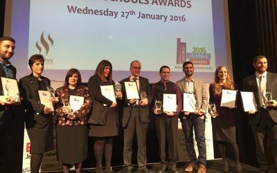 Last years winners of the Jewish News-PaJes Schools Awards!
