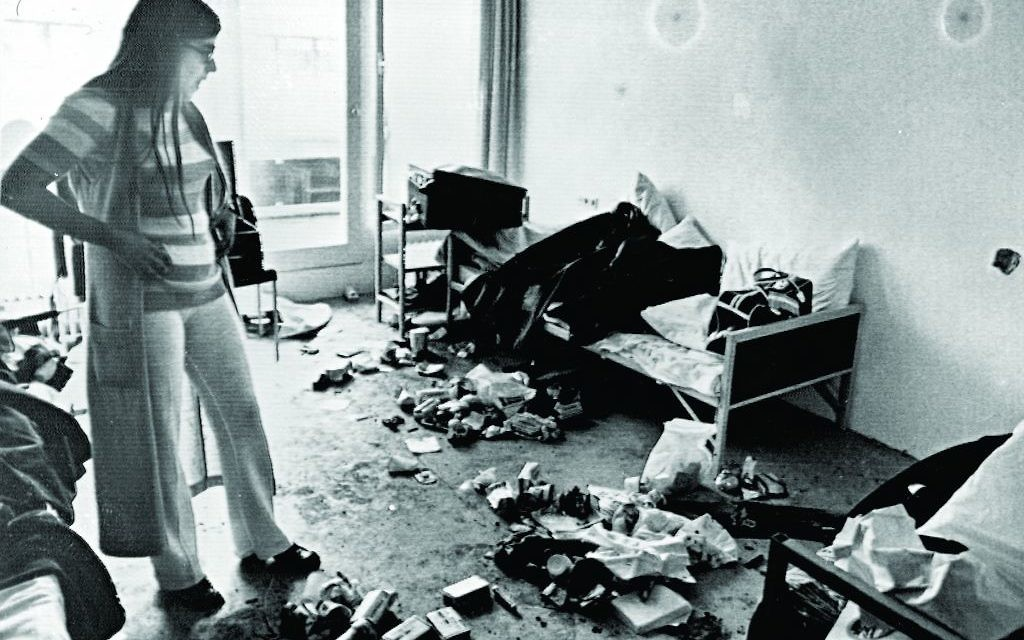 Ankie Spitzer surveys one of the rooms where the 11 Israeli athletes were held and killed