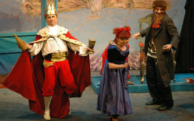 The theatre's Purim spiel performance in Yiddish, March 2009