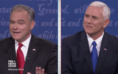 Mike Pence and Tim Kaine lock horns in the vice-presidential debate