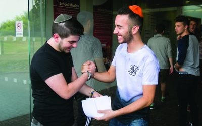 A level students celebrate their results