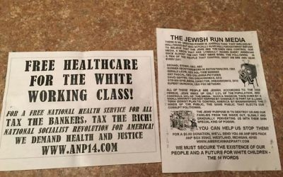 American Nazi Party fliers dropped in Missoula, Montana, November 2016. (Courtesy photo)