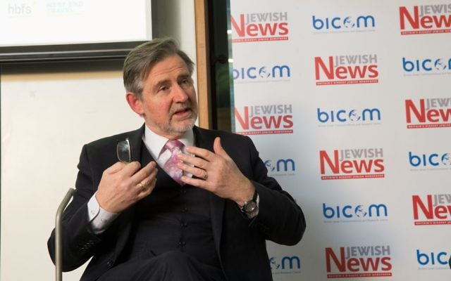 Barry Gardiner speaking at Jewish News' Israel Policy Conference in 2016 (Marc Morris Photography)