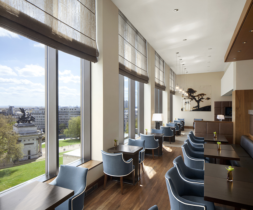 The exclusive lounge on the hotel's 7th floor