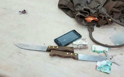 Superintendent Micky Rosenfeld, Israel Police Foreign Press Spokesman posted the picture of the knife online.
