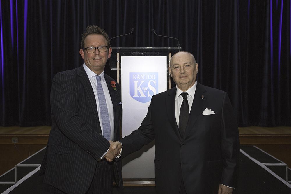 Dr. Moshe Kantor and Headmaster Matthew Slater.