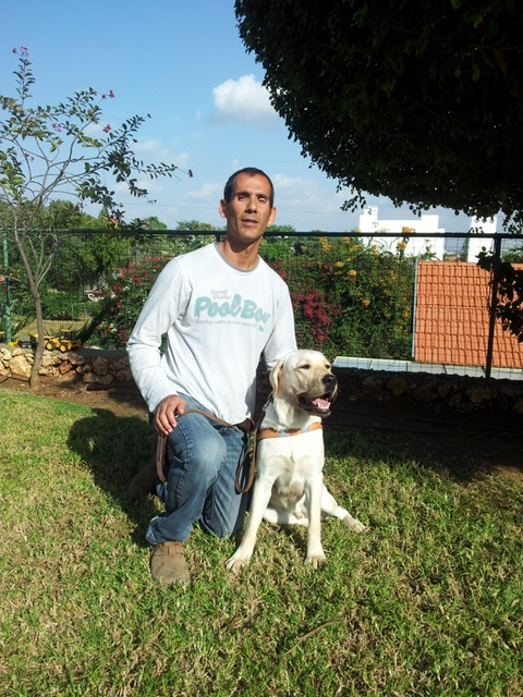 Gadi Yarkoni and his dog Butch