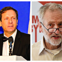 Isaac Herzog and Jeremy Corbyn
