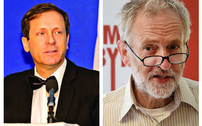 Labour politicians in Israel and the UK, Isaac Herzog and Jeremy Corbyn