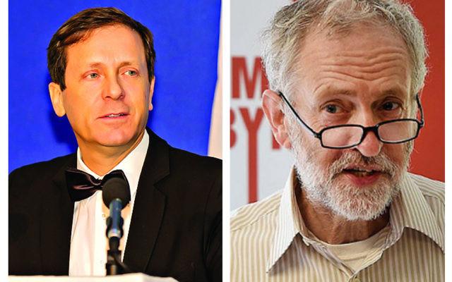 Isaac Herzog and Jeremy Corbyn