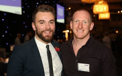 Jonny Benjamin (left) with Neil Laybourn (right)
