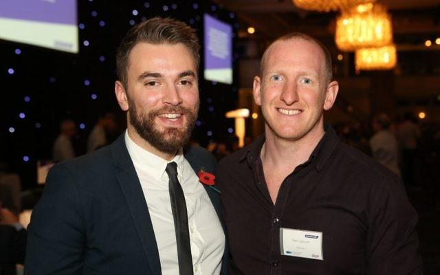 Jonny Benjamin (left) with Neil Laybourn (right)