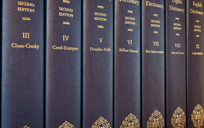 A set of Oxford English dictionaries