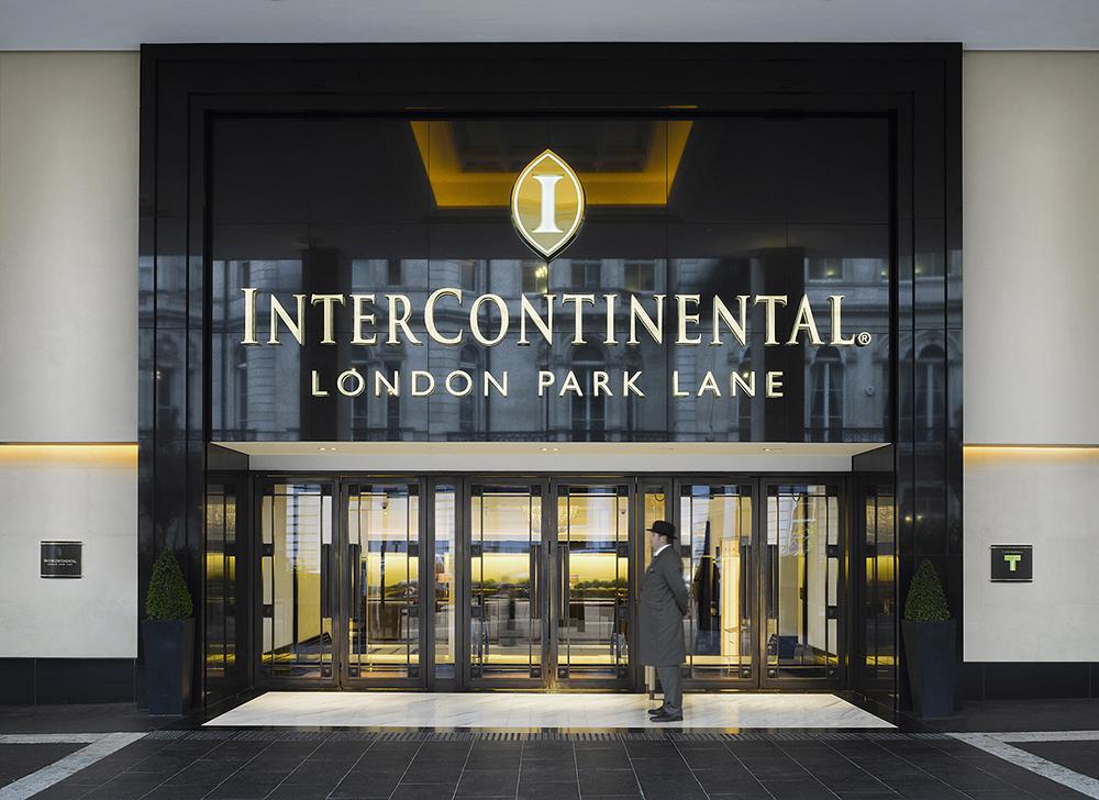 The polite doormen at the InterContinental London Park Lane