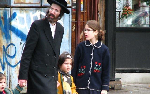 A Haredi family in the Satmar community in New York