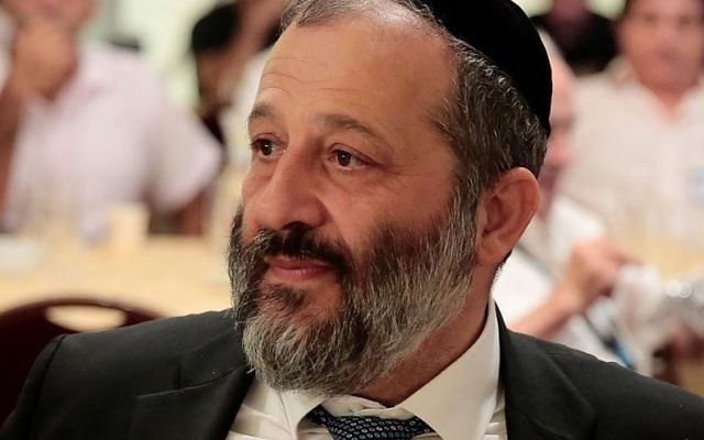 Aryeh Deri, Israel's minister of the interior