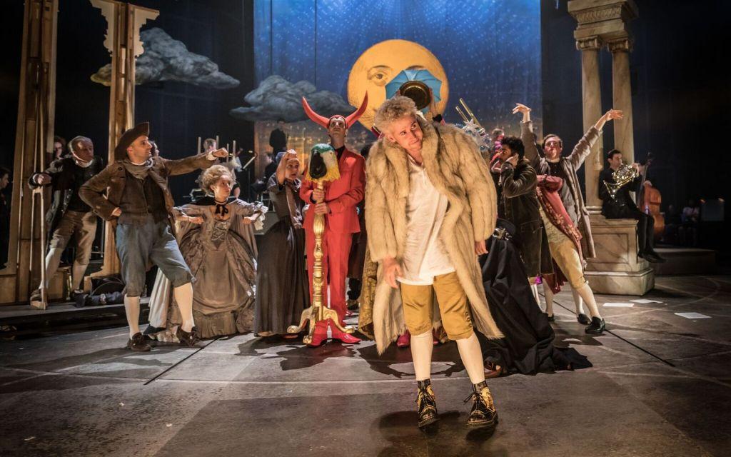 Adam Gillen stars as Mozart in Amadeus. Credit: Marc Brenner