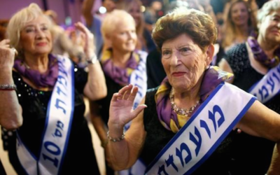 The fifth annual pageant for Holocaust survivors was held in Haifa. (Screenshot from Twitter)