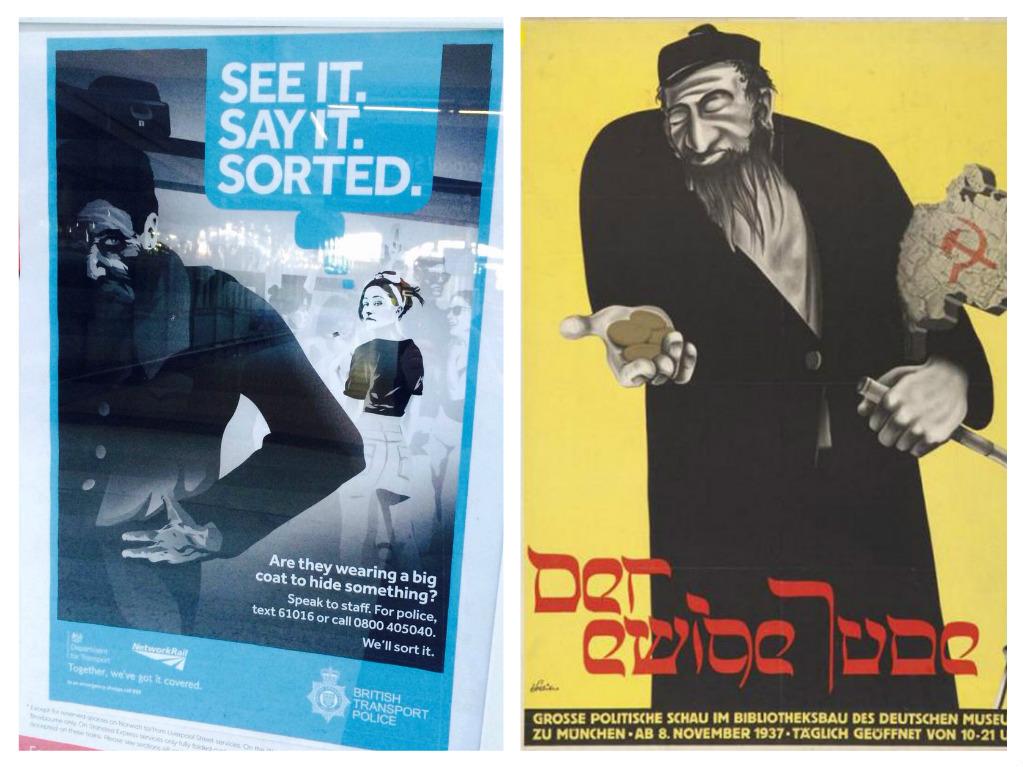 Anti terror poster 39 reminiscent of nazi propaganda - British transport police press office ...