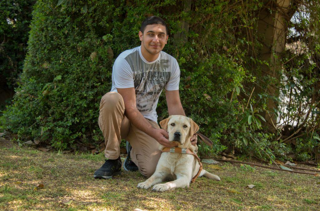 Good friends Saleem and his dog Winston