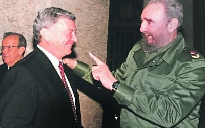 Jack Rosen with late Cuban leader Fidel Castro