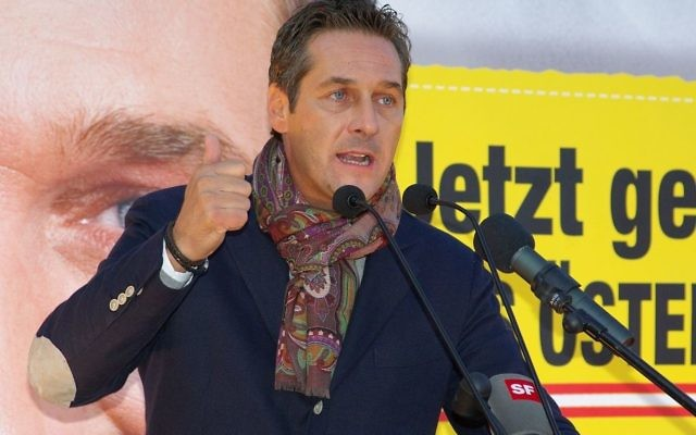 Heinz-Christian Strache of the Freedom Party,