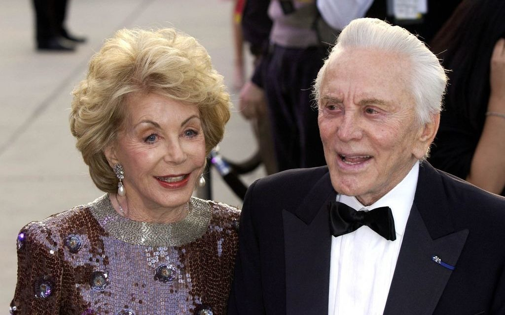 Actor Kirk Douglas and his wife Anne Buydens, as Douglas is celebrating his 100th birthday today. (Photo credit: Myung Jung Kim/PA Wire)