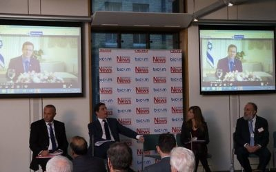 Isaac Herzog speaking at the UK-Israel policy conference (Marc Morris Photography)