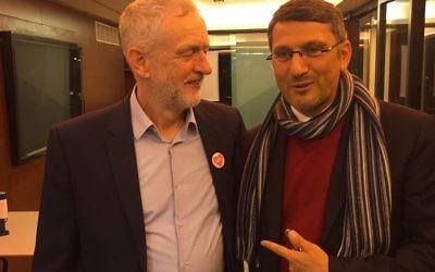 Jeremy Corbyn with Hatem Bazian