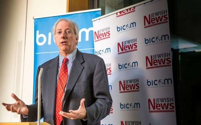Former-Ambassador Dennis Ross giving a keynote speech during the UK Israel Policy Conference   (Marc Morris Photography)