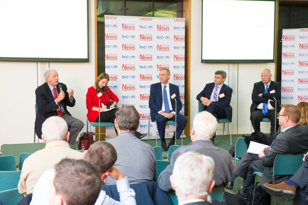 The panel on Donald Trump's possible impact on the Middle East as president (Marc Morris Photography)