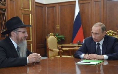 Rabbi Berel Lazar meeting with Russian president Putin