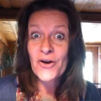 Alison Chabloz during her video, which called Auschwitz a 'theme park'