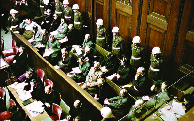The Nuremberg trials, where the term 'genocide' was first heard