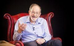 Survivor Martin Stern in the studio, in Nottingham's National Holocaust centre's 3d Hologram initiative