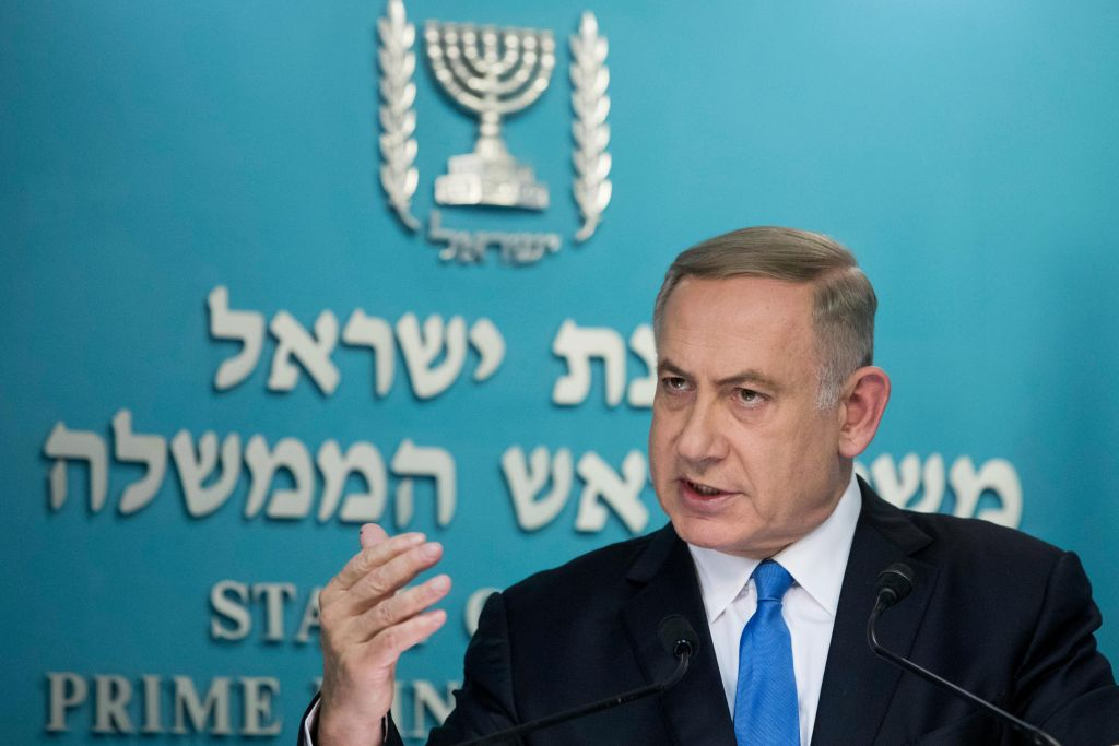 Benjamin Netanyahu has taken a hard line after the removal of Amona