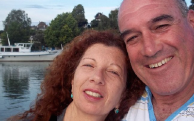 Dalia Elyakim with her husband, Rami (Twitter)