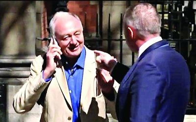 Ken Livingstone confronted by Labour MP John Mann after making his controversial remarks about Hitler