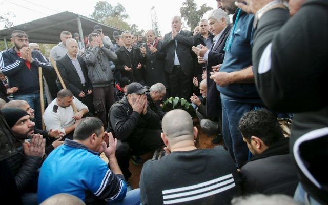 Mourners at the funeral of Leanne Zaher Nasser.