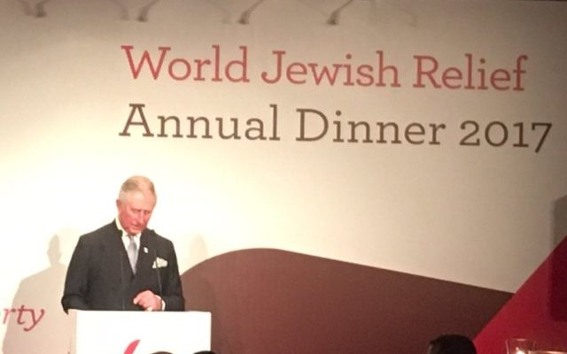 Prince Charles addressing WJR's dinner on Monday night. Pic: Twitter.