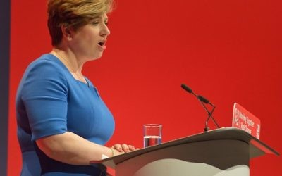 Emily Thornberry speaking at the 2017 Labour conference