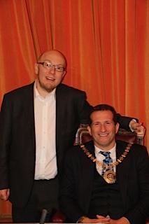 Dan Hope with former mayor Mark Shooter