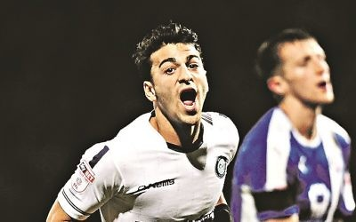 Scott Kashket has been nominated for December's League Two Player of the Month.