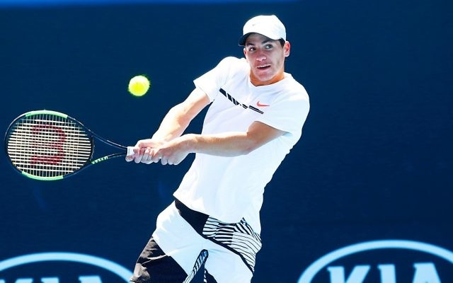 Yshai Oliel is through to the second round at Wimbledon. Picture: Peter Haskin/AJN